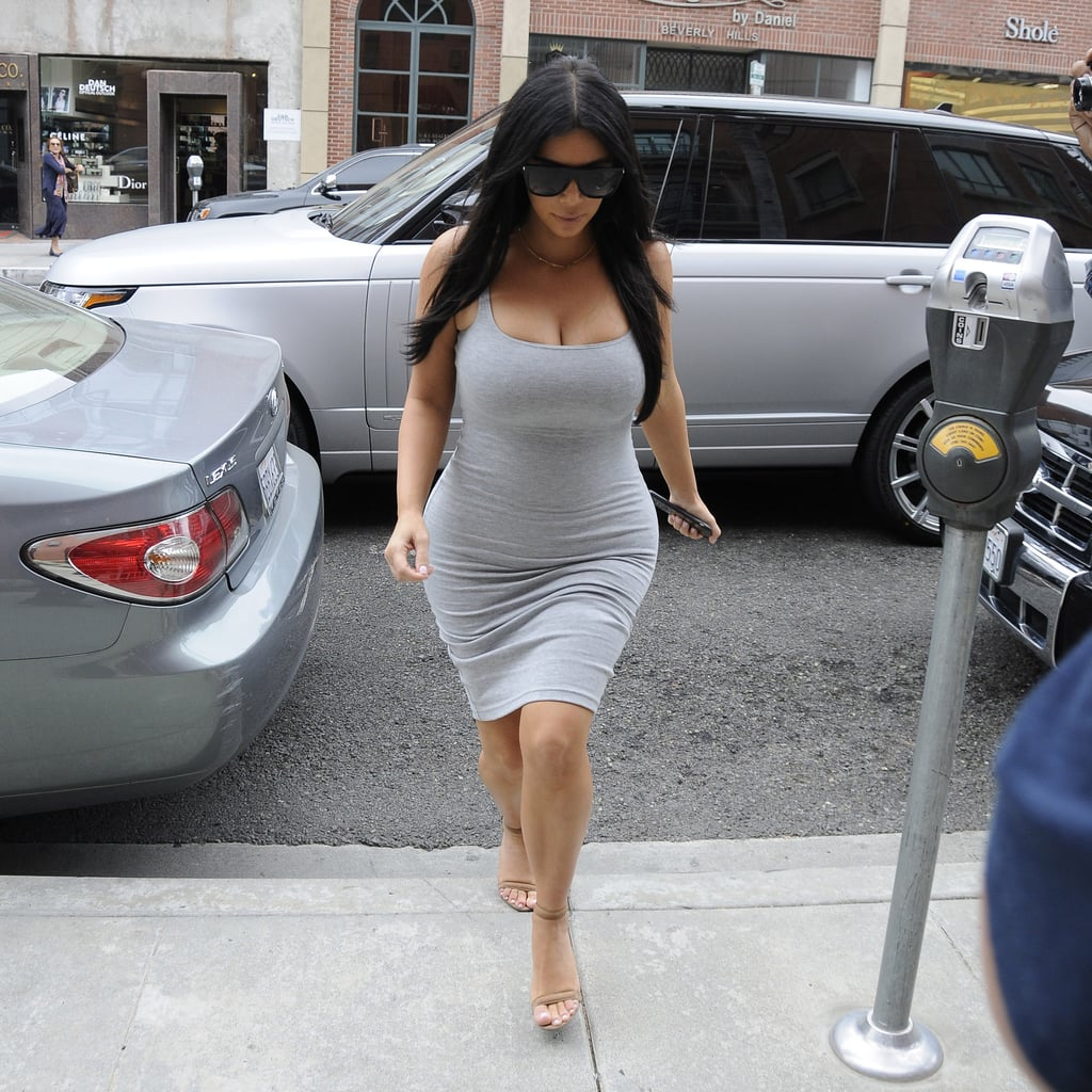 We Can't Keep Up With Kim Kardashian's Tight Maternity Dresses