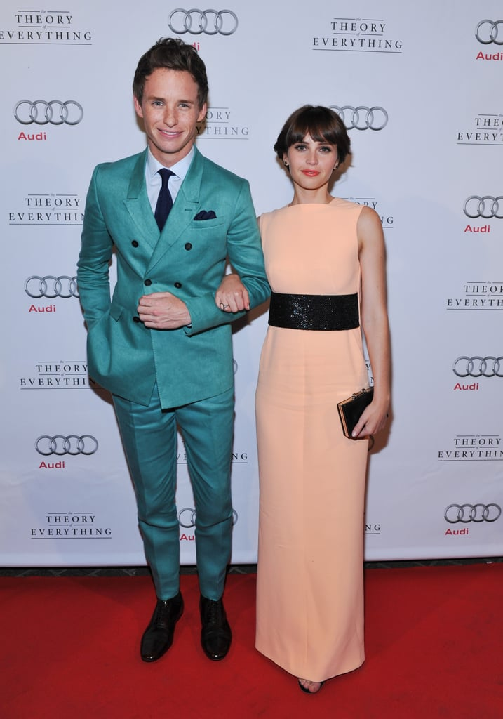 And so dapper! Love the teal suit, Redmayne.