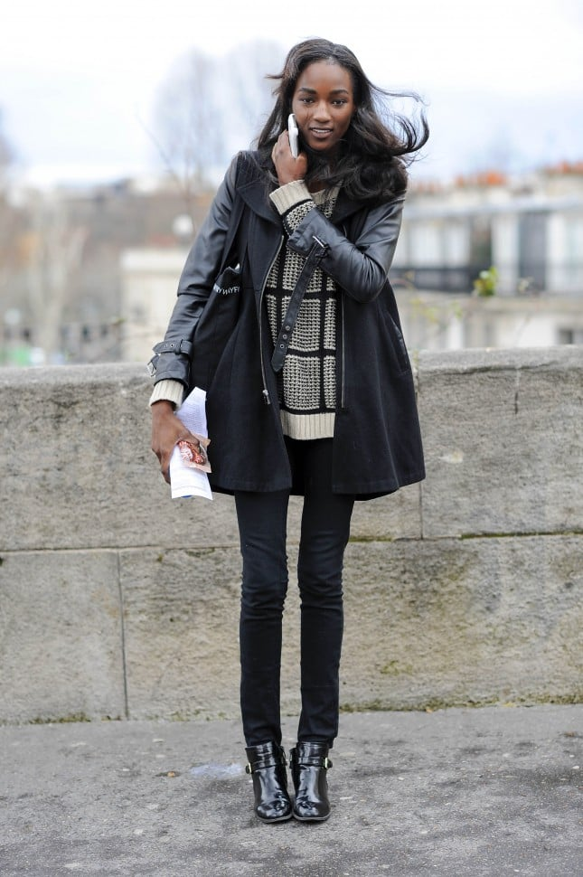 Pfw Model Street Style Day One Model Street Style At