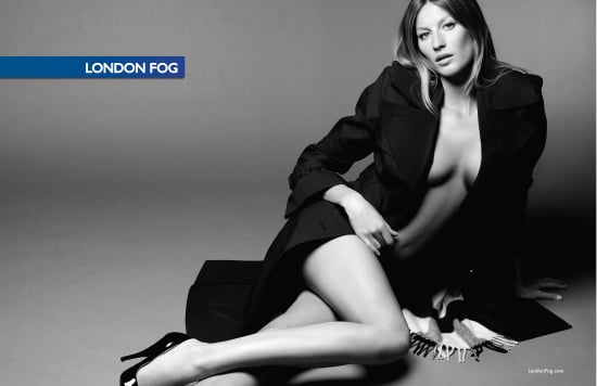 Supermodel Gisele Bundchen in London Fog Ads