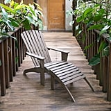 Cambridge Casual Lyon Wood Outdoor Adirondack Chair with Ottoman