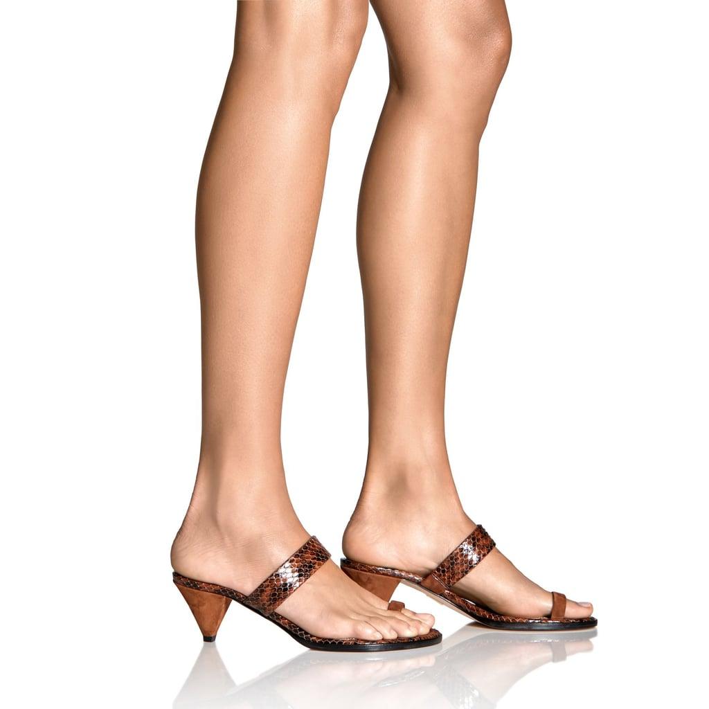 Tamara Mellon Tan Elaphe Sandals