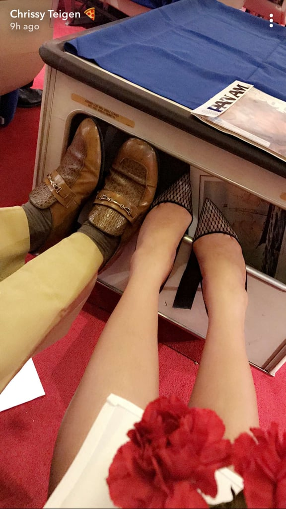 And Chrissy Took a Snap of Their Shoes
