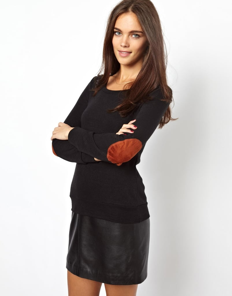 We could totally see Kate Middleton wearing this Glamorous knit sweater with elbow patches ($36) with riding boots.