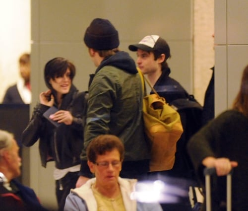 Robert Pattinson and Kristen Stewart spotted at JFK Airport in New York City