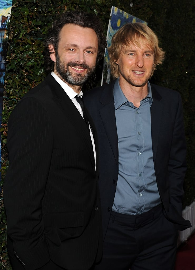 "Midnight in Paris stars Owen Wilson and Michael Sheen brought Woody Allen's latest project to LA last night. The twosome were just off a screening in NYC and their world premiere in Cannes last week. New dad Owen was happy to chat and beamed when talking about his son, Robert, gushing about the infant's latest triumphs. Apparently, the little guy just learned to roll over. While Michael was without the company of his real-life leading lady Rachel McAdams, he did have sweet things to say in her absence. Michael revealed that the whole cast became like a family on location in Paris, and it was especially lovely to meet Rachel, which he described as the ""start of a lovely relationship"" — stay tuned for more on tomorrow's PopSugar Rush! Woody Allen may consider becoming a matchmaker in his spare time since he has a knack for bringing couples together, like Vicky Christina Barcelona stars Penelope Cruz and Javier Bardem. Woody's film goes head-to-head against Penelope's Pirates of the Caribbean: On Stranger Tides when both films open nationwide this weekend."