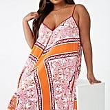 Plus-Size Baroque Print Dress
