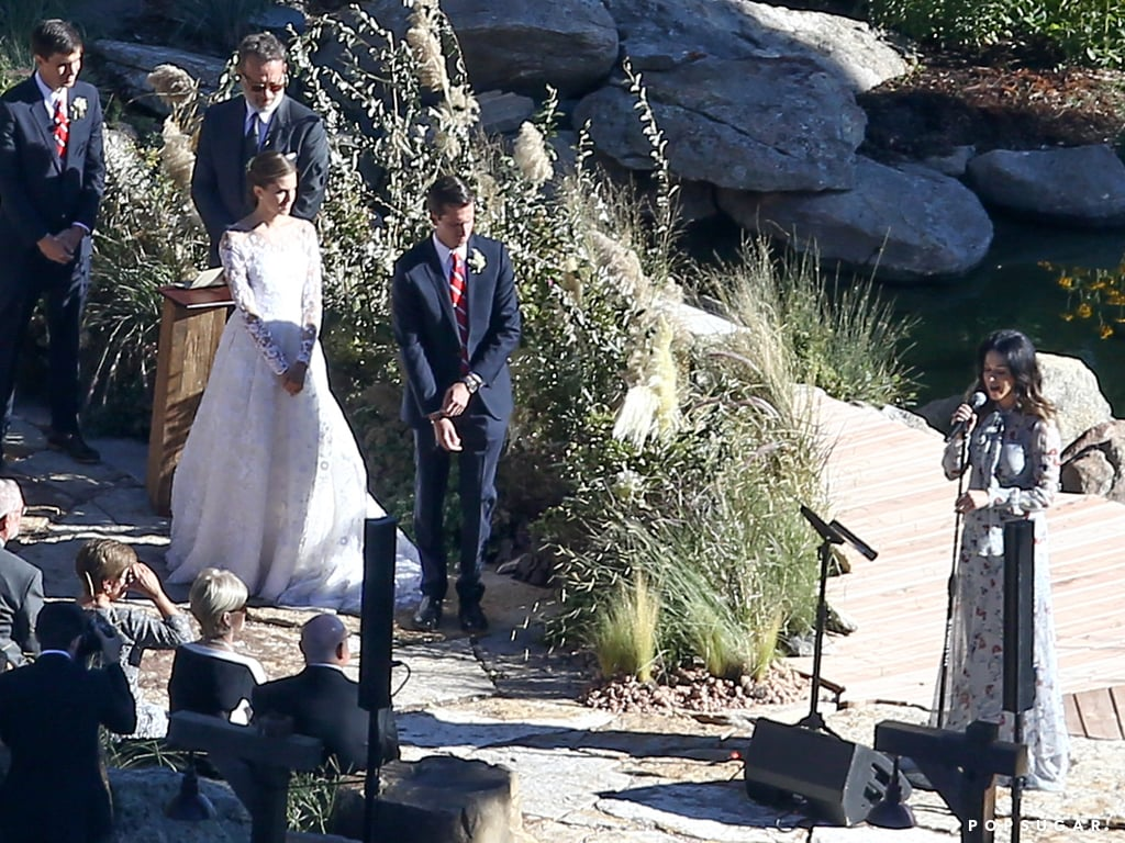 Katy Perry took the mic during the ceremony.