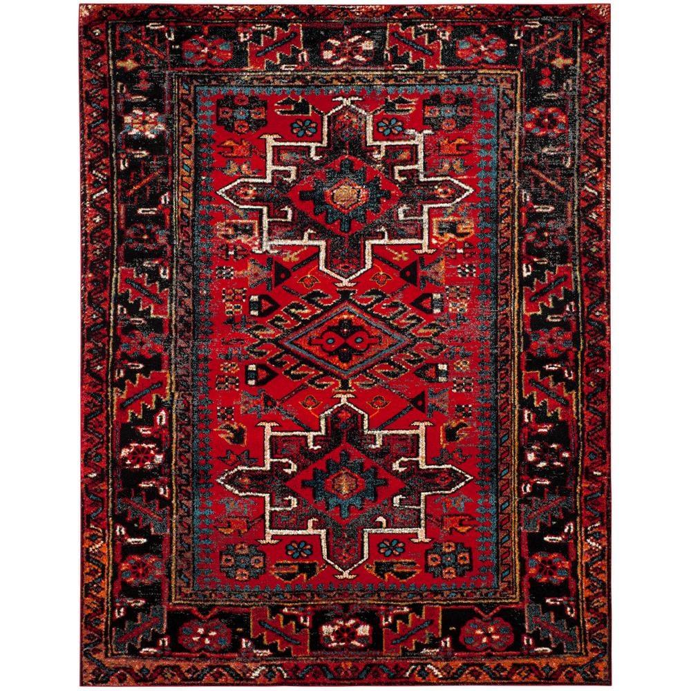 Safavieh Vintage Hamadan Red/Multi 8 ft. x 10 ft. Area Rug