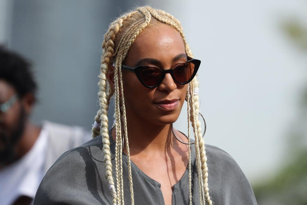 Solange With Platinum Blonde Hair September 2017
