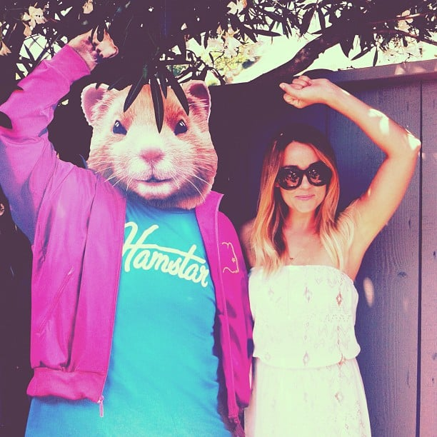 Lauren Conrad added a hamster to her photo. Source: Instagram user laurenconrad