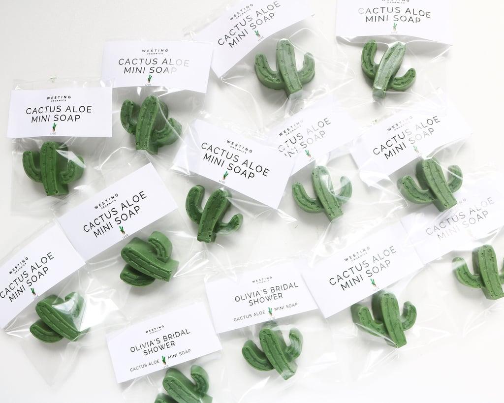 Personalized Mini Cactus Soap Favors