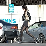 Kendall Jenner Was Recently Spotted in a Pair of Sheer-Paneled Leggings