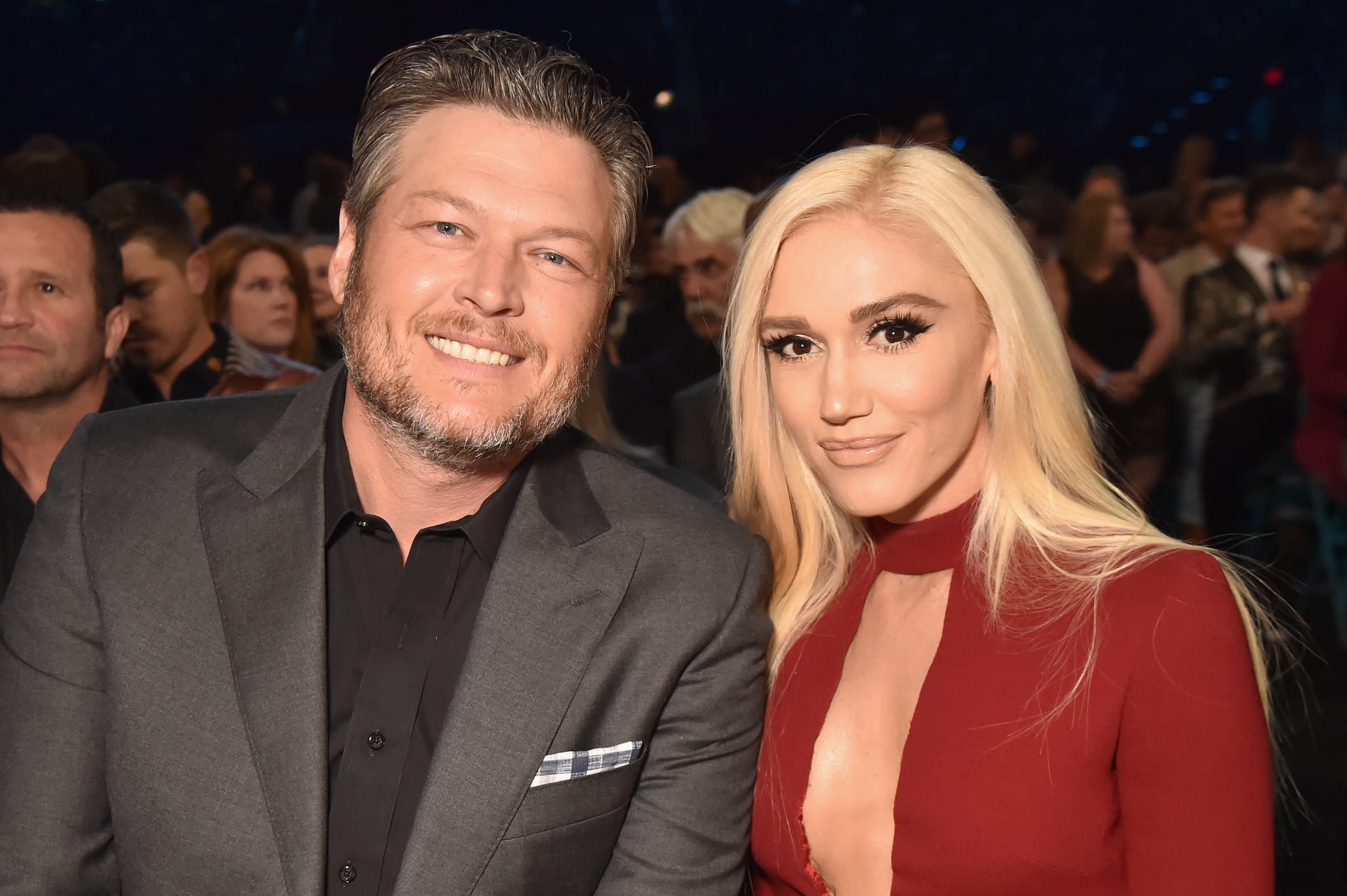 LAS VEGAS, NV - APRIL 15:  Blake Shelton (L) and Gwen Stefani attend the 53rd Academy of Country Music Awards at MGM Grand Garden Arena on April 15, 2018 in Las Vegas, Nevada.  (Photo by Jeff Kravitz/ACMA2018/FilmMagic for ACM)