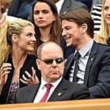 Josh Hartnett With Pregnant Girlfriend at Wimbledon