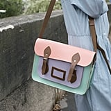 Pastels brightened up this Cambridge Satchel.