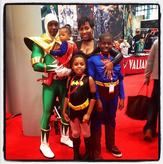 Green Ranger, Super Girl, Batgirl, and Superman