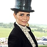 Mischa Barton looked dapper in her top hat.