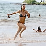Julia Jones wore a bikini at the beach in Hawaii.