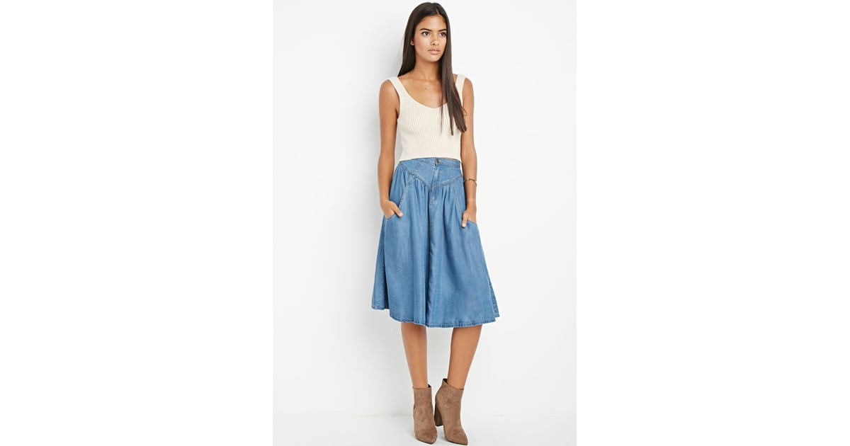 Forever 21 Contemporary Life In Progress A Line Chambray