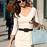 Miranda Kerr smiled while out in NYC.