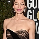 The Boldest Beauty Moments Paired With Black Dresses at the Golden Globes
