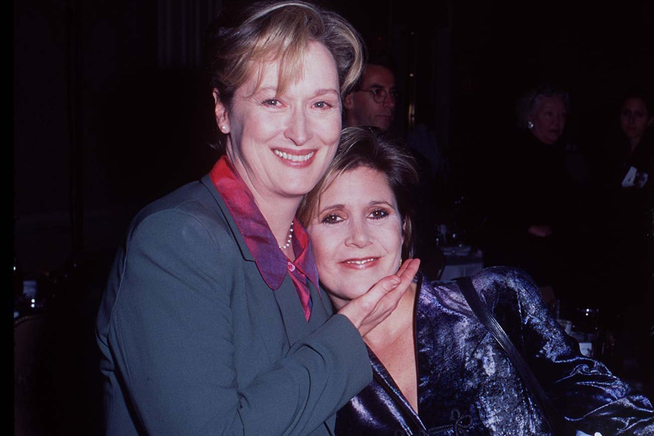 Image result for meryl streep and carrie fisher