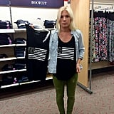 """""""The meaning and importance of #shopsmall has never really hit my heart until today when it hit my home and my livelihood. #MERICA is one of our original 5 designs. We opened April 1st, 2014 + this tank launched us to levels we didn't know we're possible. This photo is me in @target wearing MY #sandilakeclothing original design and holding up the tank they made using the same one. They are identical. And I'm not alone with my story. Small businesses are being copied everywhere with no leg to stand on. I contacted Target Corporate and they gave me an address to mail a letter to! That's it!!? Please share this story and others you hear of. We work incredibly hard to provide for our families, and dress you and your littles in a rad way that large companies can't. Know what you are buying and where it came from. I am going to think a lot harder about every purchase I make... @targetdoesitagain #stolen #plagiarism #dontsteal #comeupwithyourowndesigns"""" —Melissa Lay"""