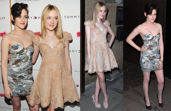 Photos of Dakota Fanning and Kristen Stewart at the NYC Premiere of The Runaways