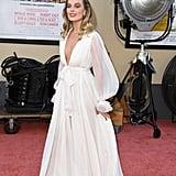 Margot Robbie's White Gown
