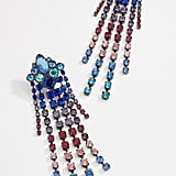 Rebecca Minkoff Gemma Crystal Fringe Earrings