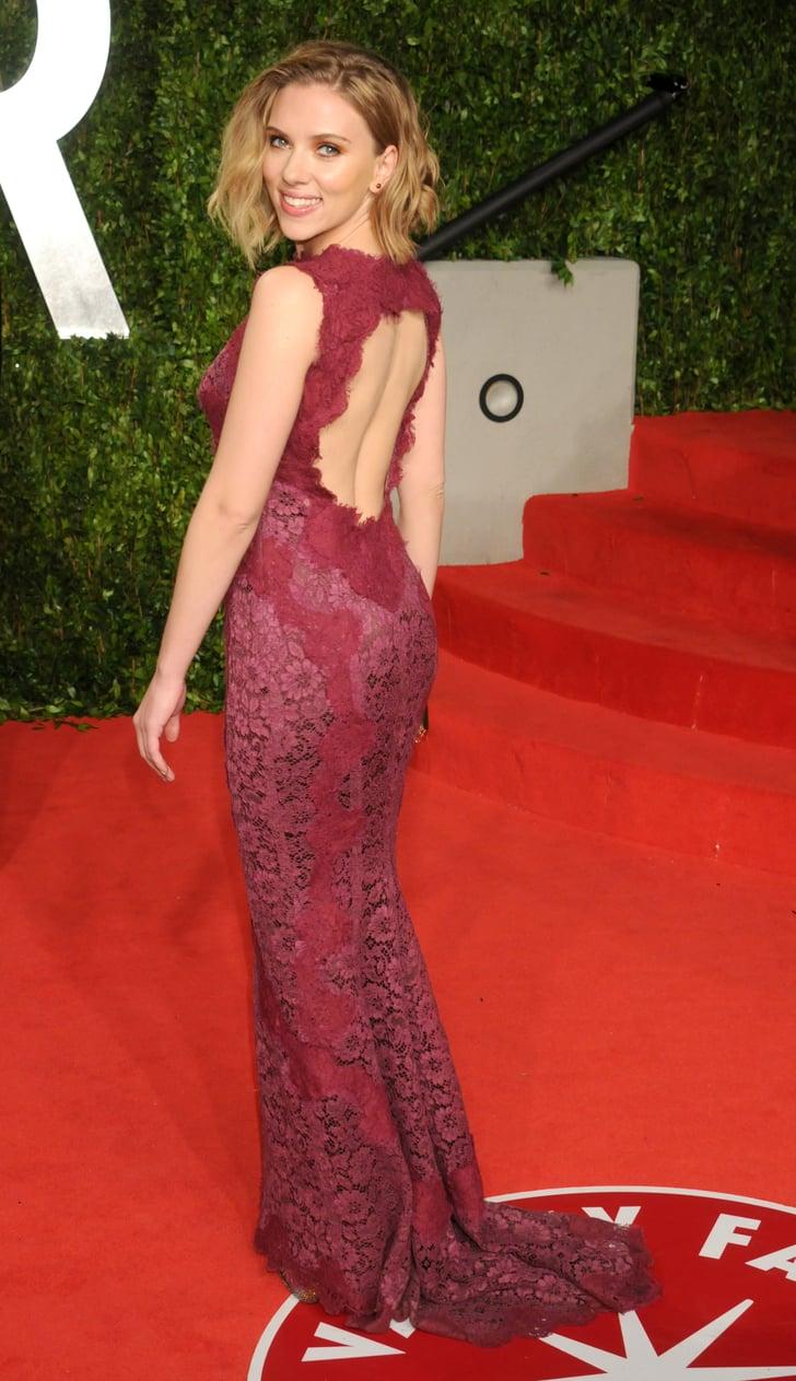 Scarlett Johansson At The Vanity Fair Oscar Party 2011