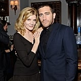Jake Gyllenhaal got some face time with Rene Russo at their Nightcrawler premiere.