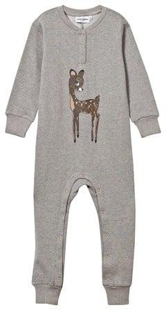 Mini Rodini Bambi Onesie Grey Melange ($51)