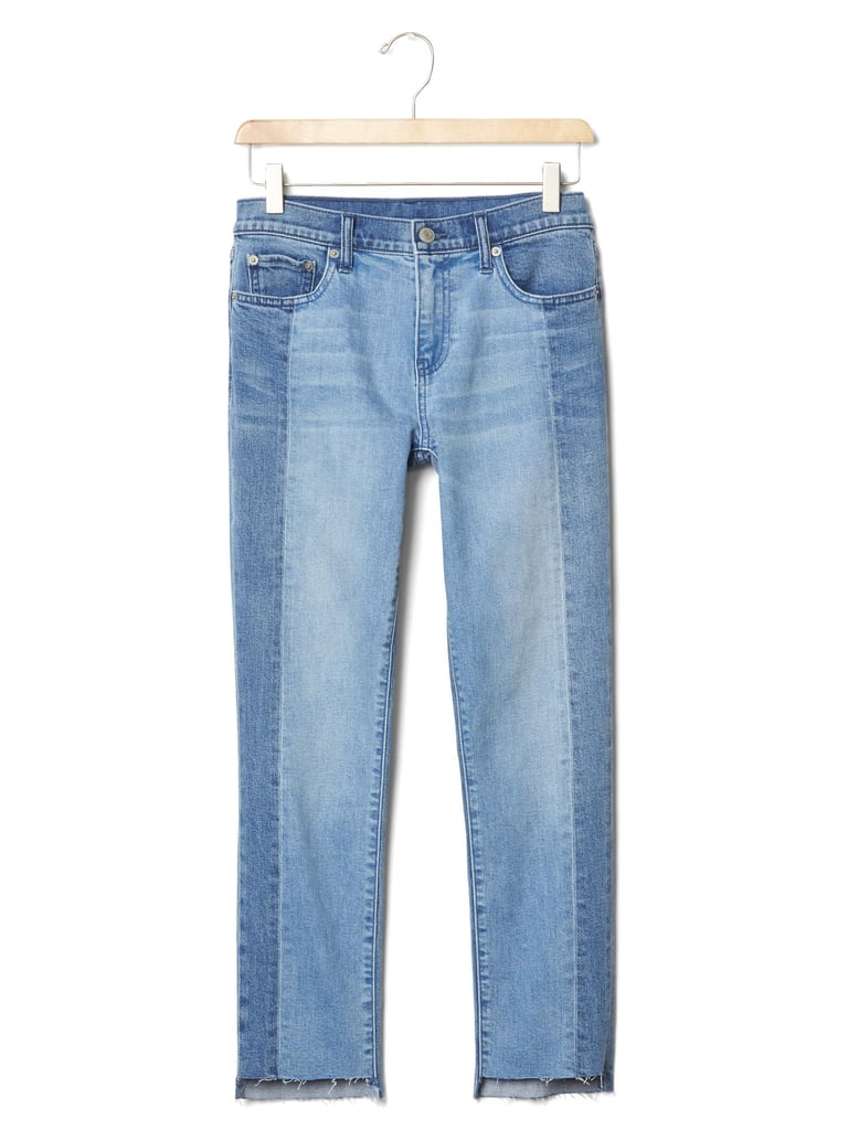 Authentic two-tone girlfriend jeans ($80)