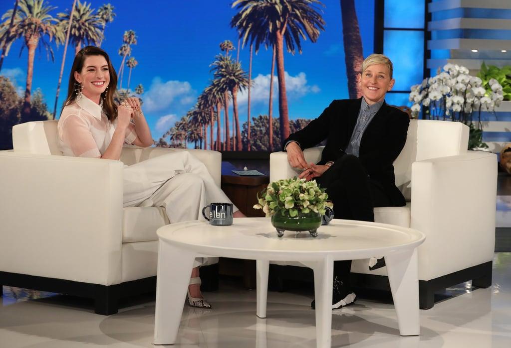 Anne Hathaway Talking About Drinking on Ellen Jan. 2019