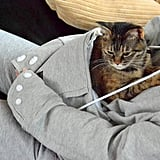 Mewgaroo Hoodie With Cat Pocket