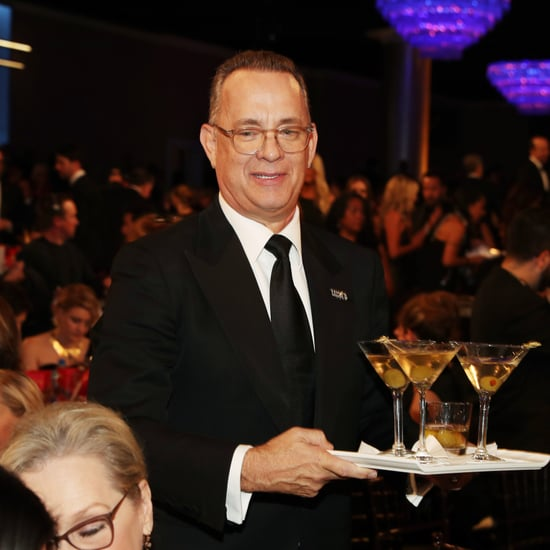 Tom Hanks With Tray of Martinis at the Golden Globes