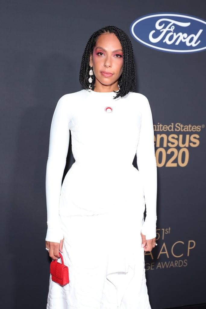 Melina Matsoukas's 2-Toned Eye Makeup at the 2020 NAACP Image Awards