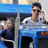 Halle Berry with Nahla at Knott's Berry Farm.