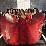 Laverne Cox's Zac Posen Dress on 11 Honouré Runway Feb. 2019