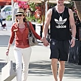 Dannii Minogue and Kris Smith Enjoy the Miami Sights