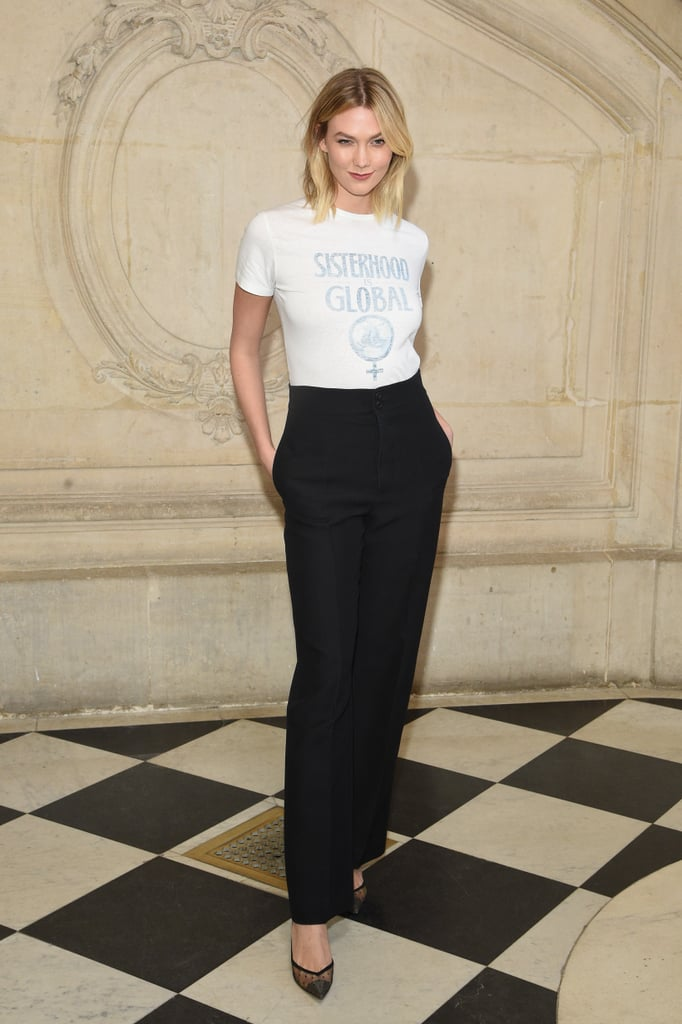 Karlie Kloss At Dior Fall 2019 Celebrities In The Front Row At
