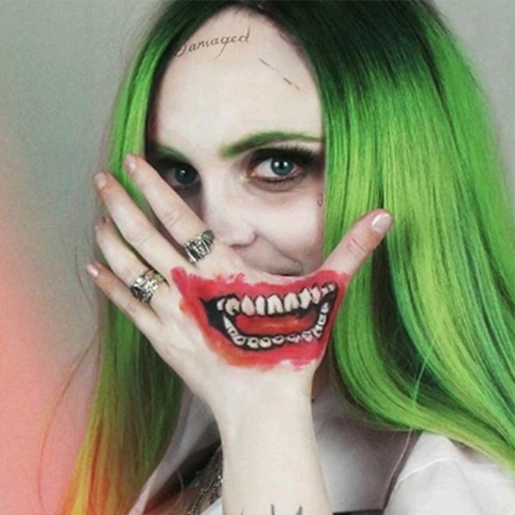 female joker halloween makeup ideas | popsugar beauty