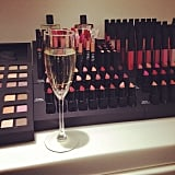 Funny you should ask, we do take champagne with our makeup.  Source: Instagram user narsissist