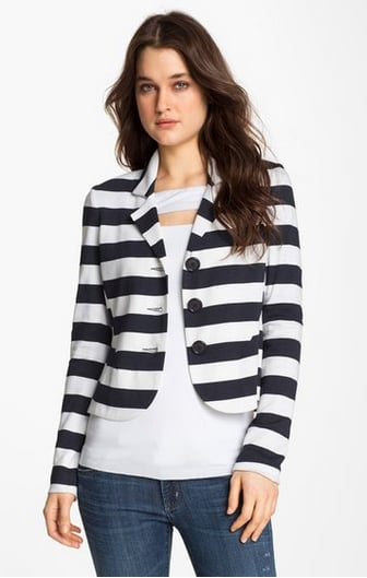 This Bailey 44 striped blazer ($264) will give your ensembles a nautical twist. Pair it with white denim during the day, then with leather shorts for a night out.