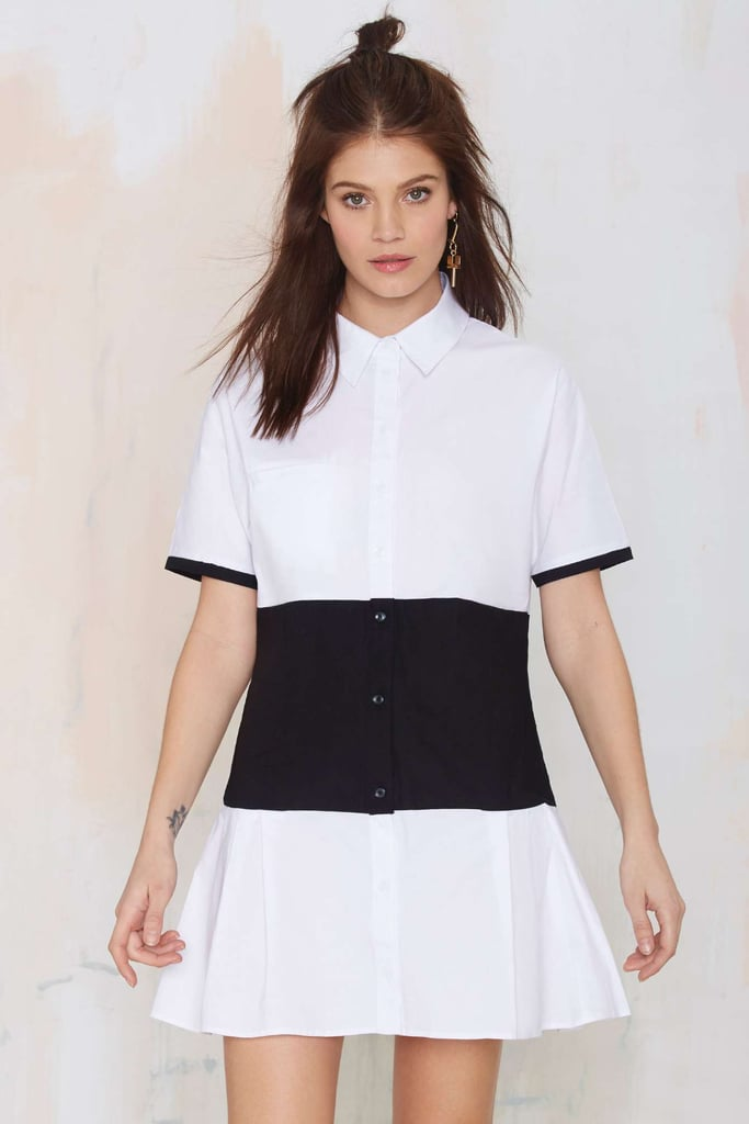Nasty Gal middle ground shirt dress ($68)