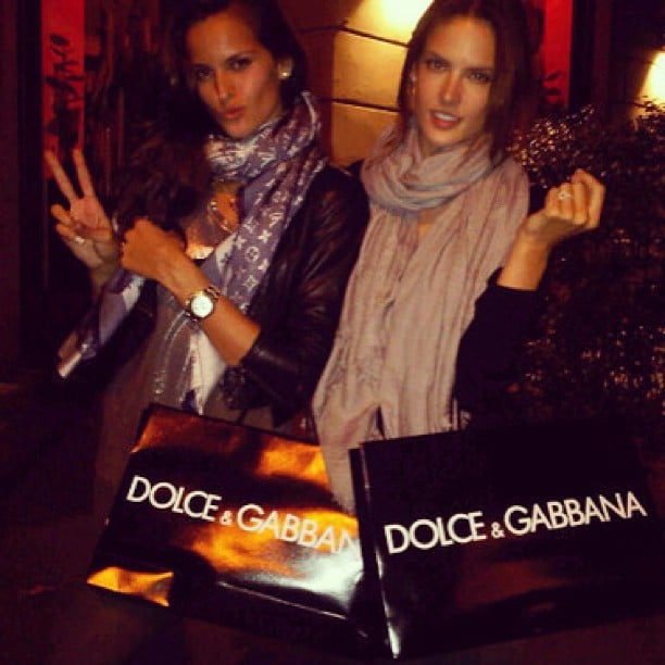 Izabel Goulart and Alessandra Ambrosio shopped together at Dolce & Gabbana. Source: Instagram user izabel_goulart
