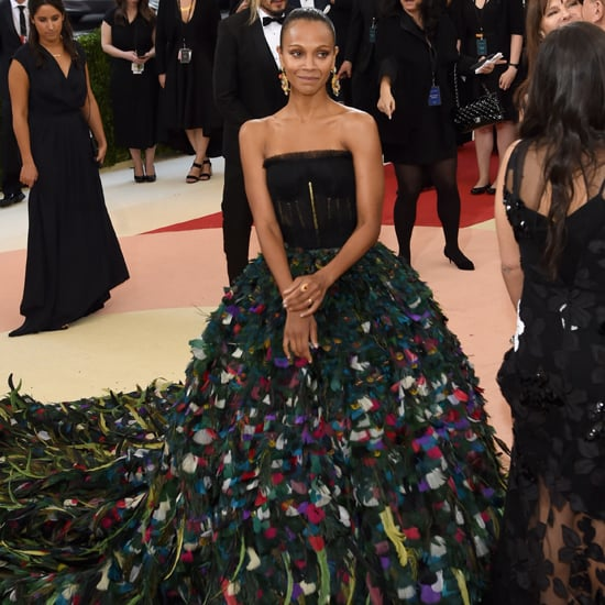 Zoe Saldana Dolce and Gabbana Dress at Met Gala 2016