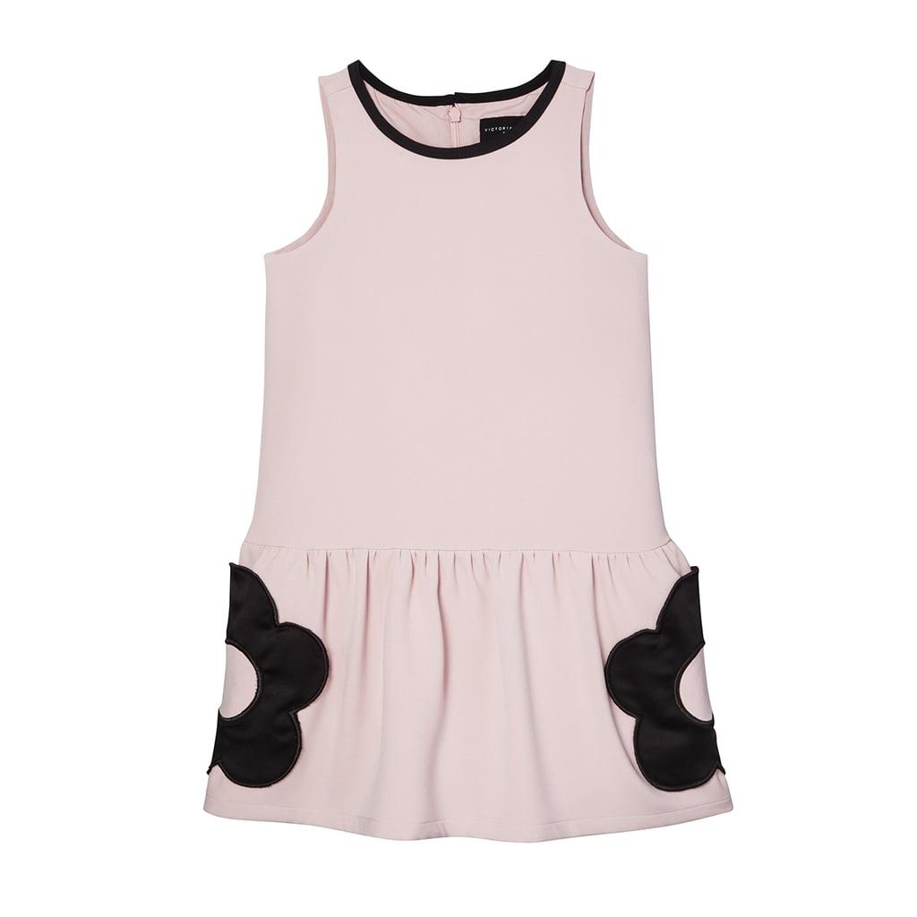 Girls Blush Flower Pocket Drop Waist Dress 28 Victoria Beckham